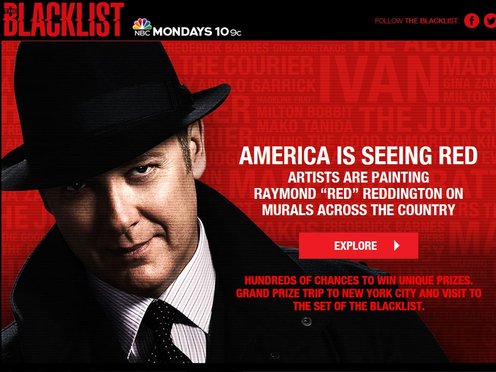 The Blacklist Murals Sweepstakes