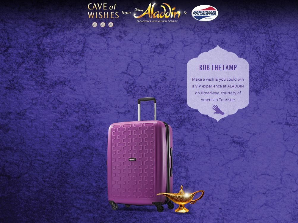 The American Tourister Cave of Wishes Sweepstakes