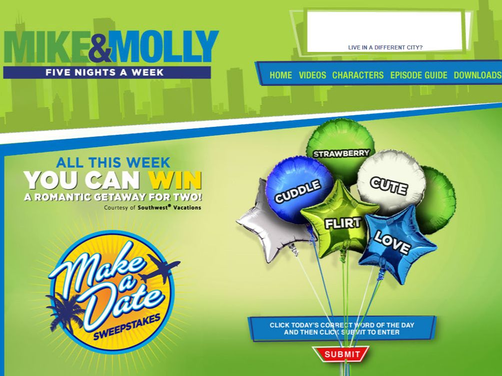 """Mike & Molly """"Make a Date"""" Sweepstakes"""