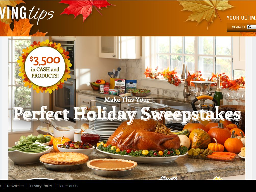 Mrs. Cubbison's Stuffing Make This Your Perfect Holiday $3,500 Sweepstakes