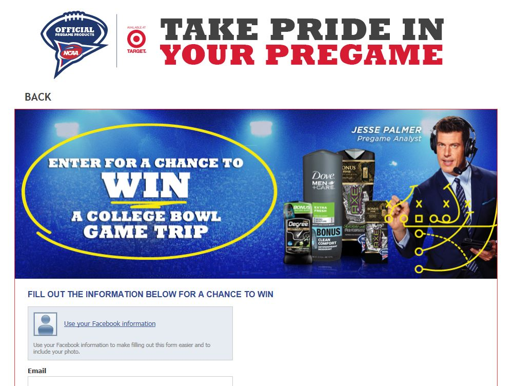Take Pride In Your Pregame Sweepstakes