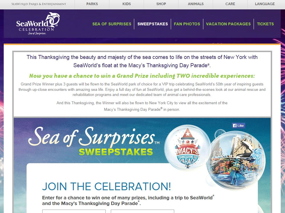 Sea of Surprises Sweepstakes