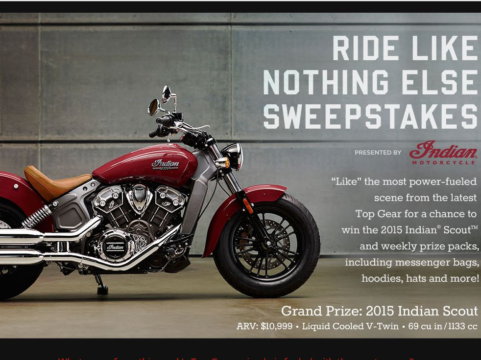 History Channel Ride Like Nothing Else Sweepstakes