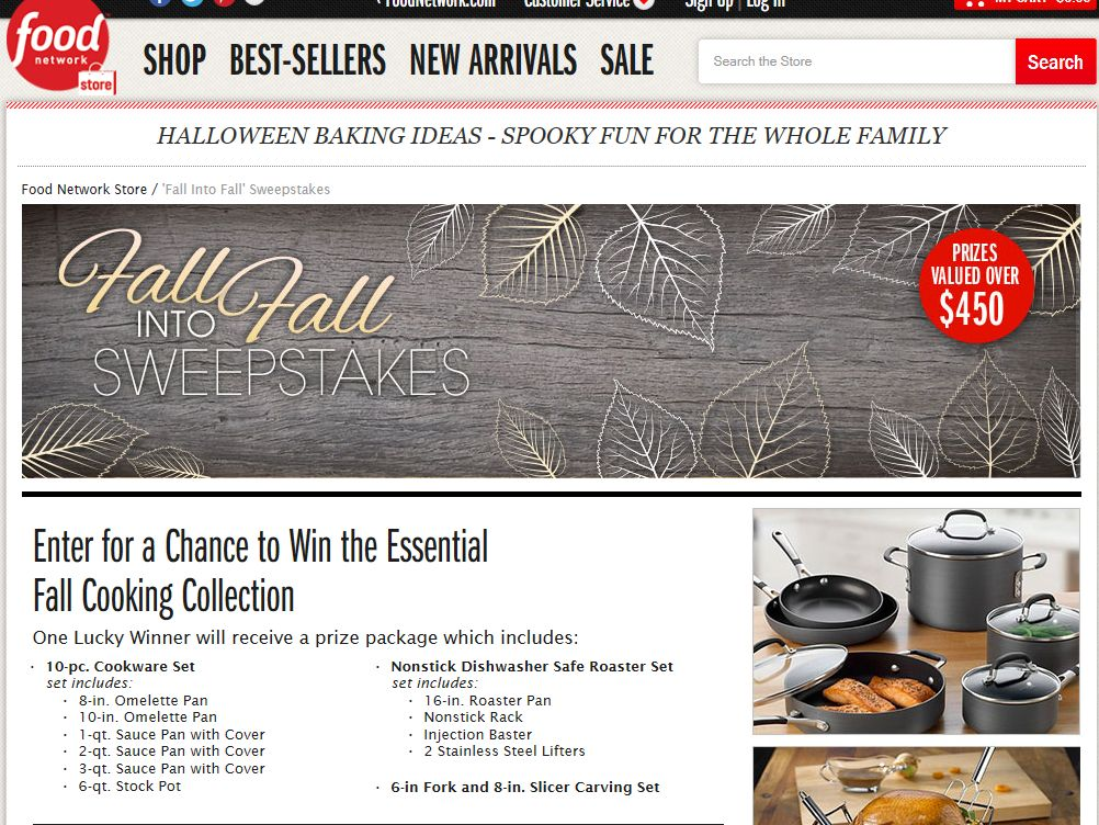 Food Network Fall Into Fall Sweepstakes