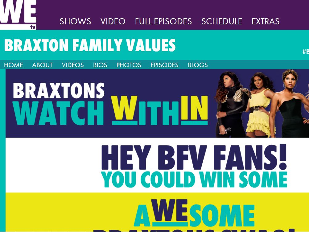 WEtv Braxton Family Values Watch Within Sweepstakes