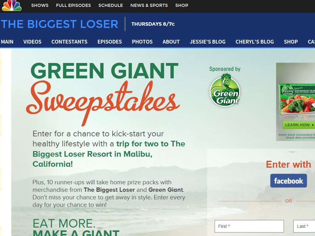 Green Giant Sweepstakes