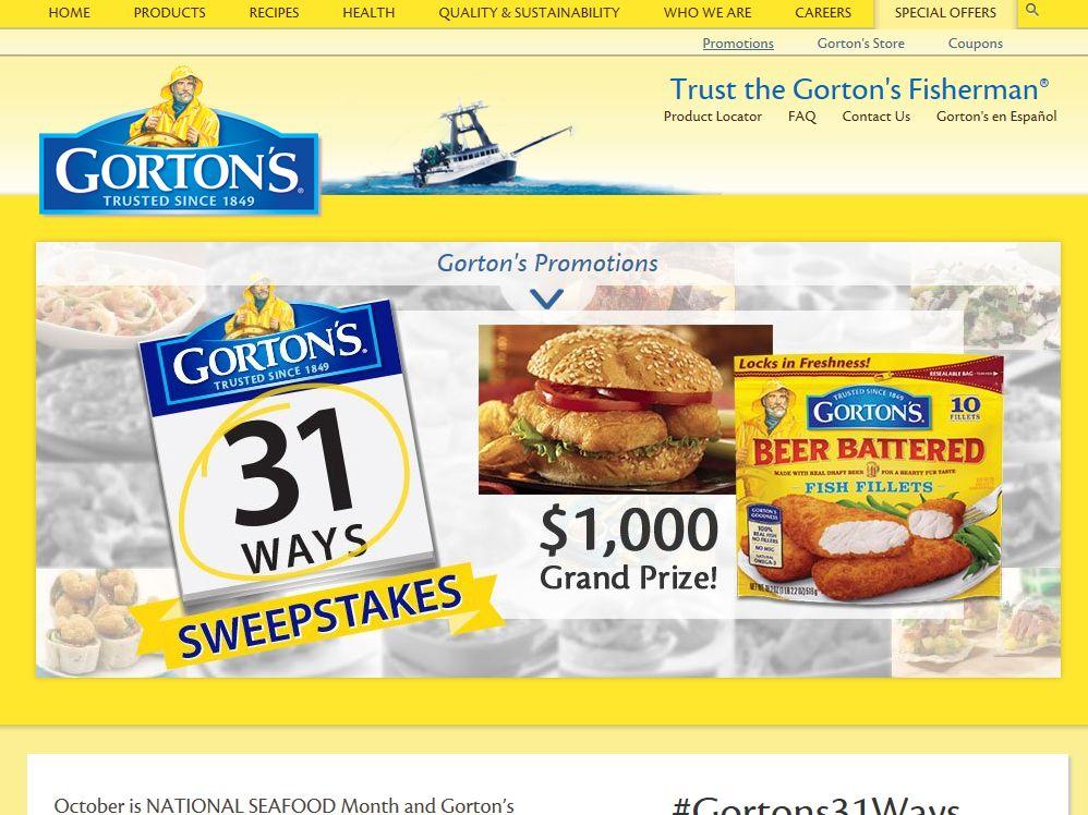 """Gorton's """"31 Ways"""" Sweepstakes"""