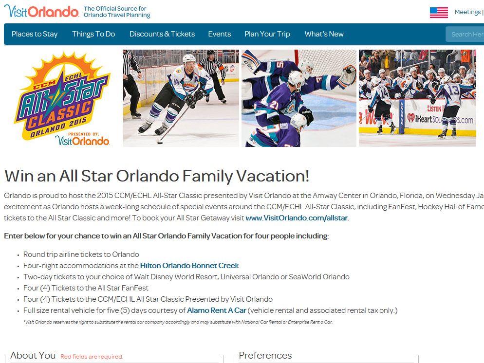 VisitOrlando.com Win an Orlando Family Vacation Sweepstakes