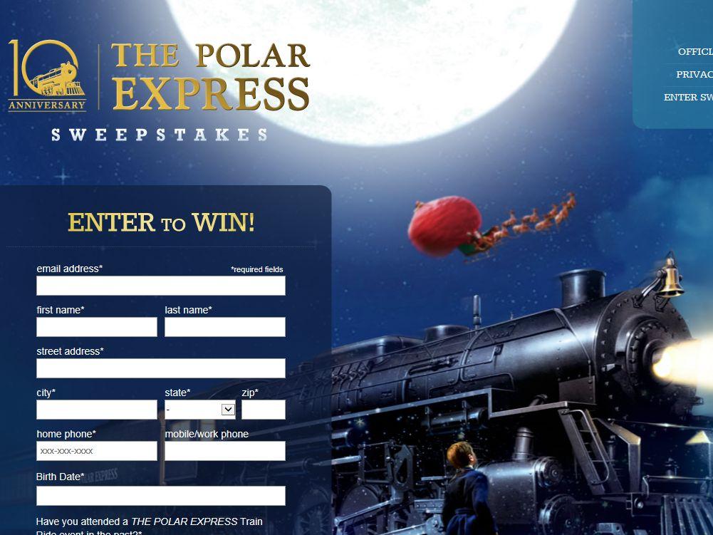 Polar Express 10th Anniversary Sweepstakes