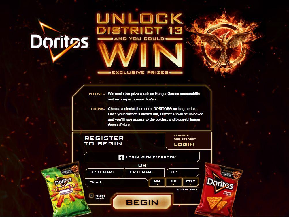 "DORITOS ""Unlock District 13"" Instant-Win Promotion"