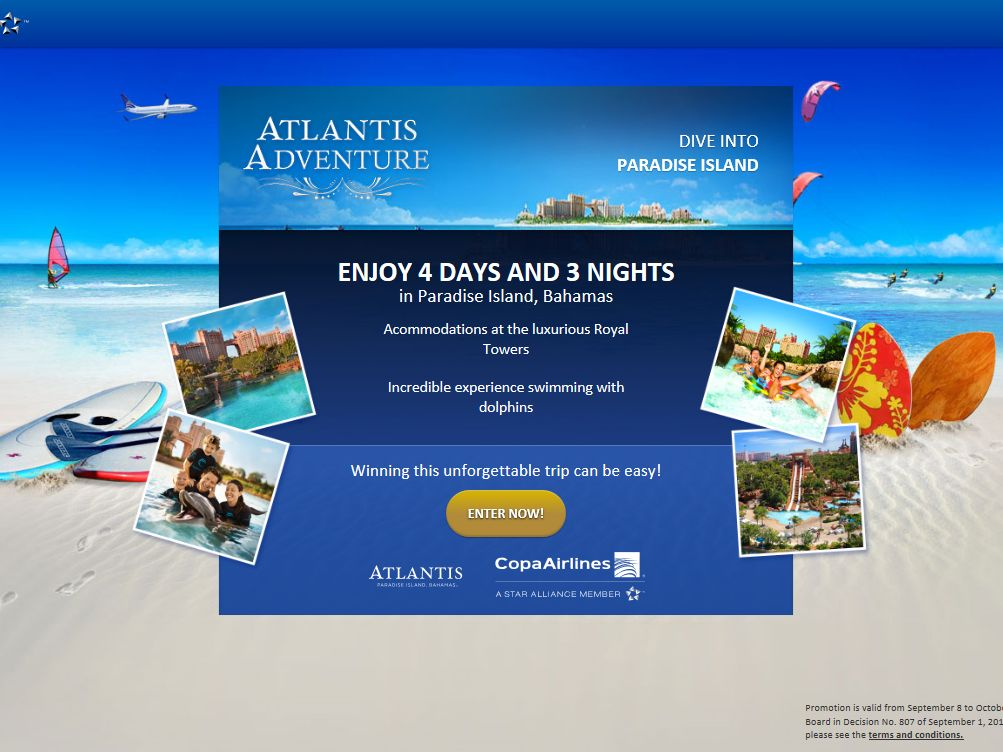"Copa Airlines ""Atlantis Adventure"" Sweepstakes"