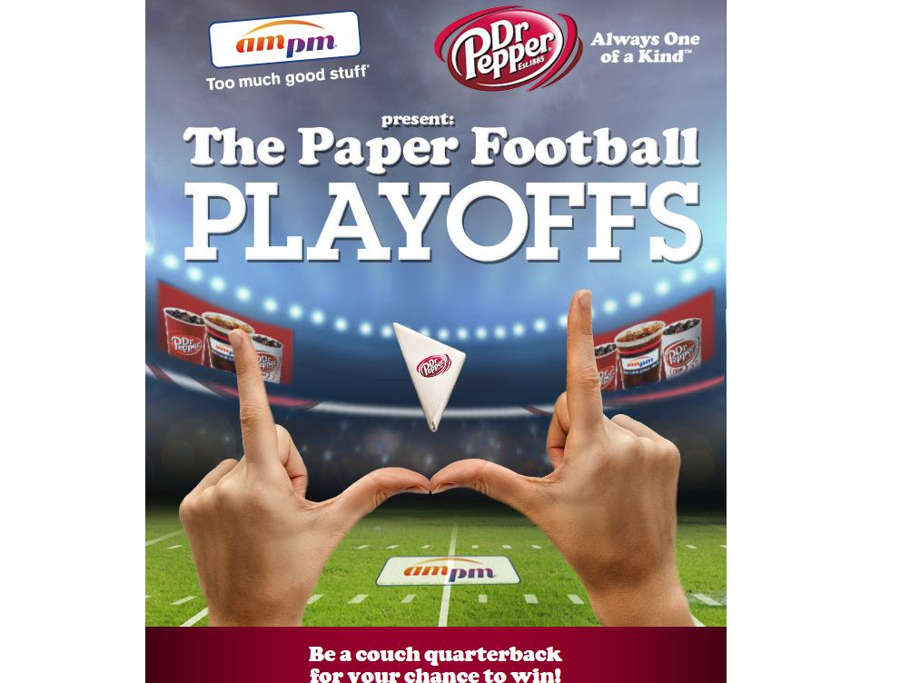 Dr Pepper Paper Football Experience Sweepstakes