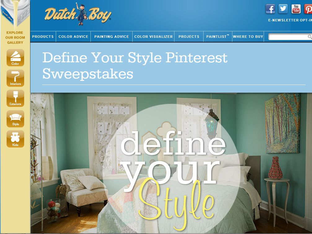 "The Dutch Boy Paints ""Define Your Style"" Sweepstakes"