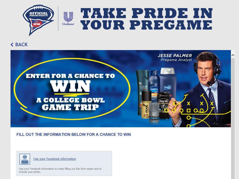 Unilever #PregamePride Sweepstakes