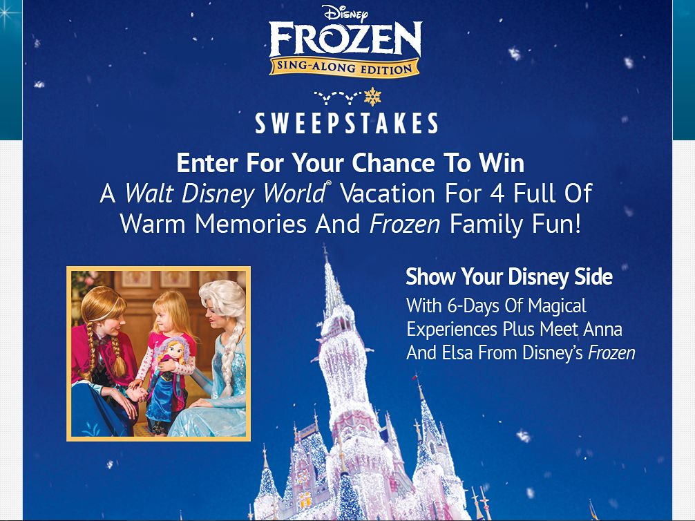 The Disney Frozen Sing-Along Sweepstakes