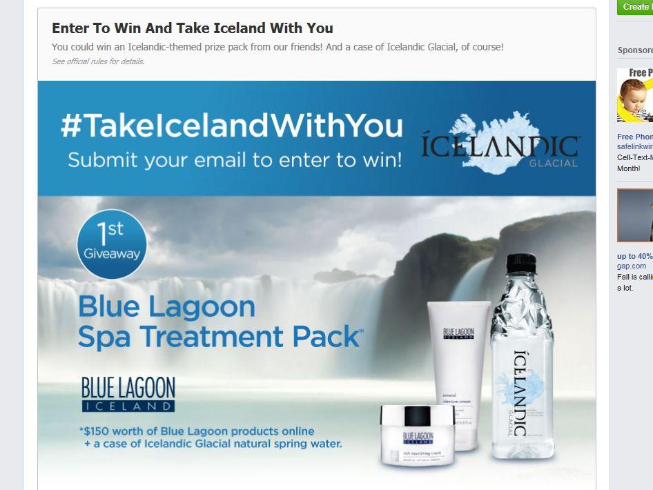 ICELANDIC GLACIAL #TakeIcelandWithYou Giveaway