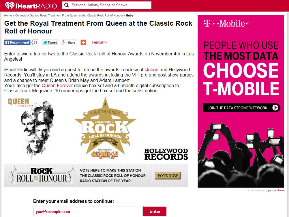 Get the Royal Treatment from Queen at the Classic Rock Awards Sweepstakes