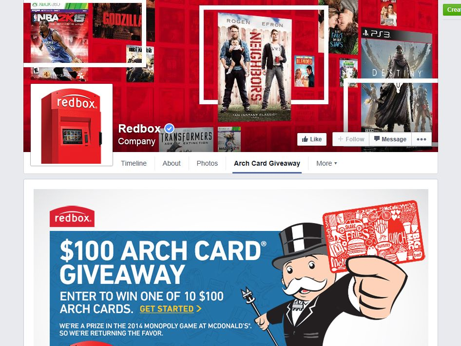 McDonald's Arch Card Sweepstakes
