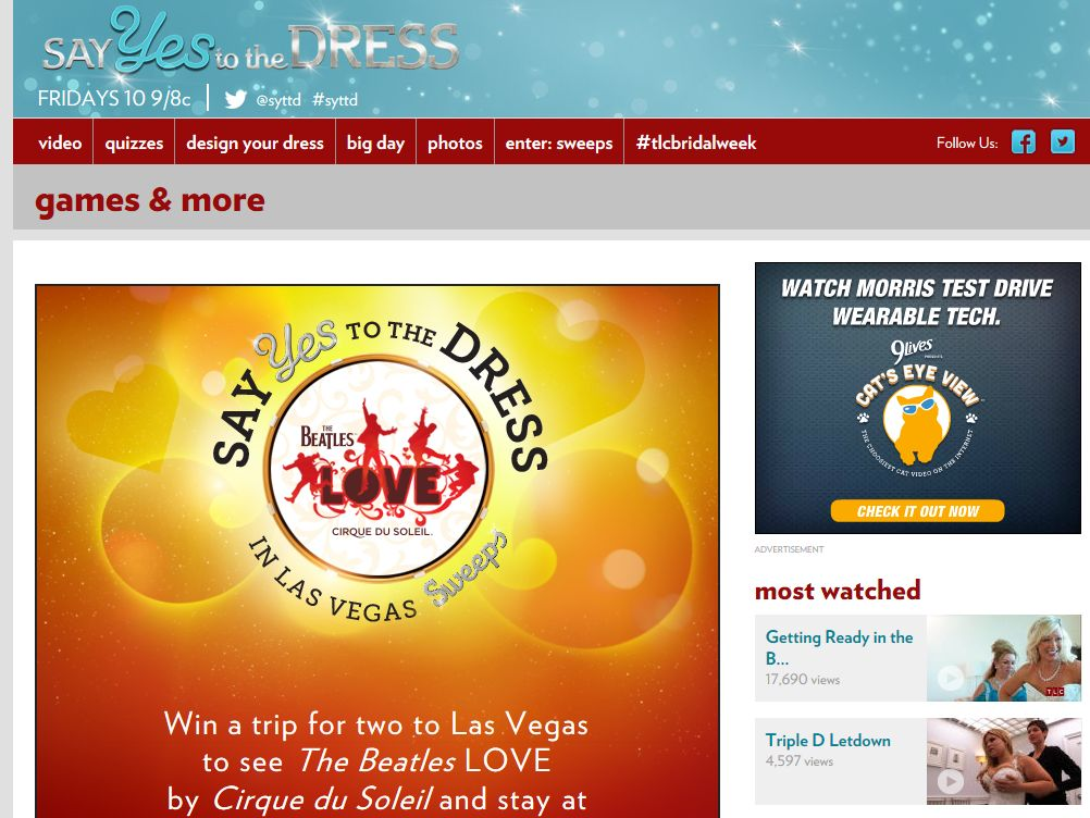 TLC Say Yes to the Dress in Las Vegas Sweepstakes