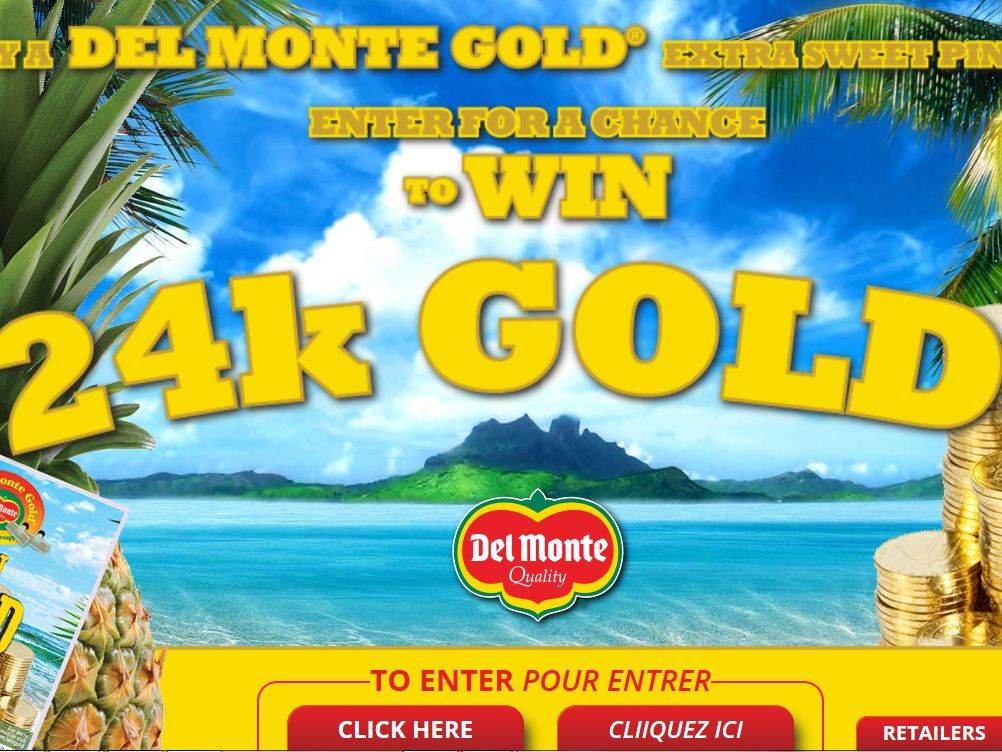 The Del Monte Fresh Gold for Gold Sweepstakes