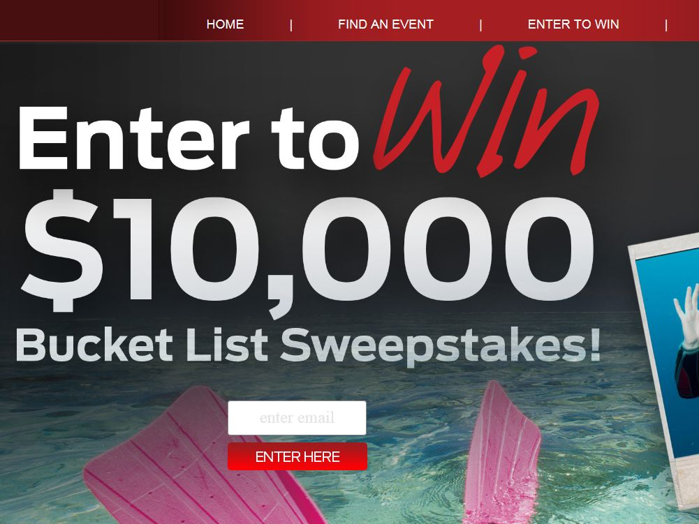 The 2014 Mustang Bucket List Sweepstakes
