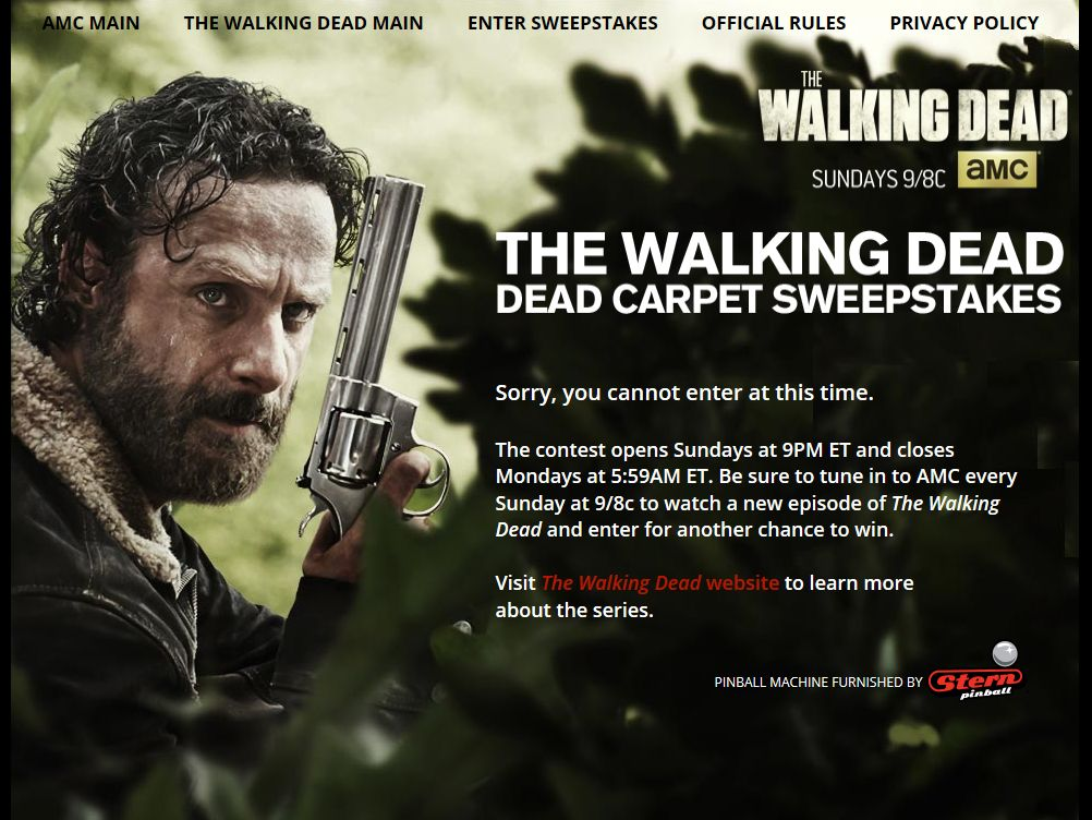 "AMC's The Walking Dead ""Dead Carpet"" Sweepstakes"