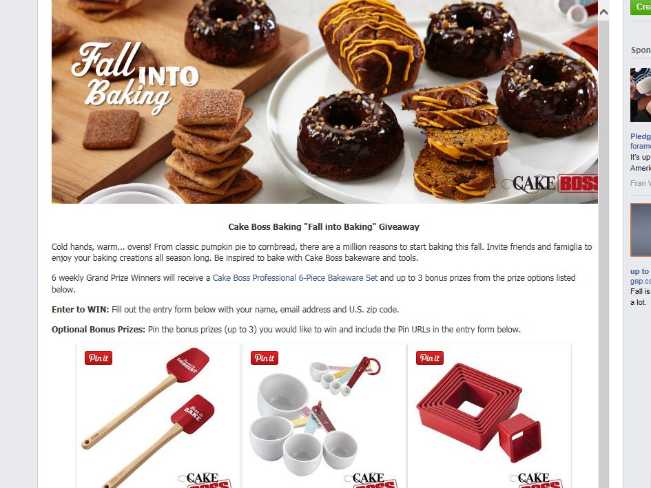 """The Cake Boss """"Fall Into Baking"""" Giveaway"""