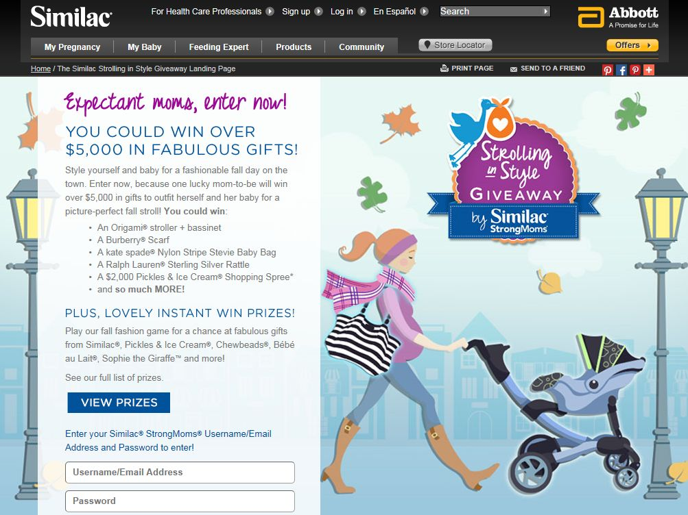 Similac Strolling in Style Giveaway