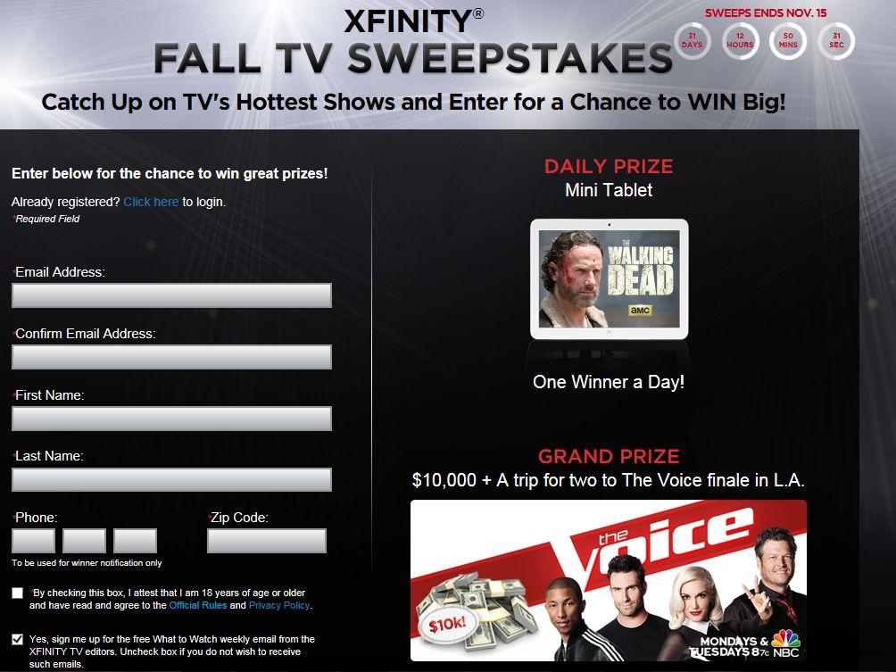 XFINITY Fall TV Sweepstakes