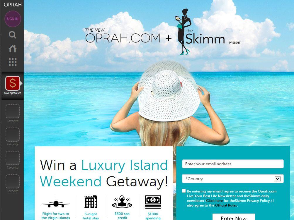 Skimm Luxury Weekend Getaway Sweepstakes