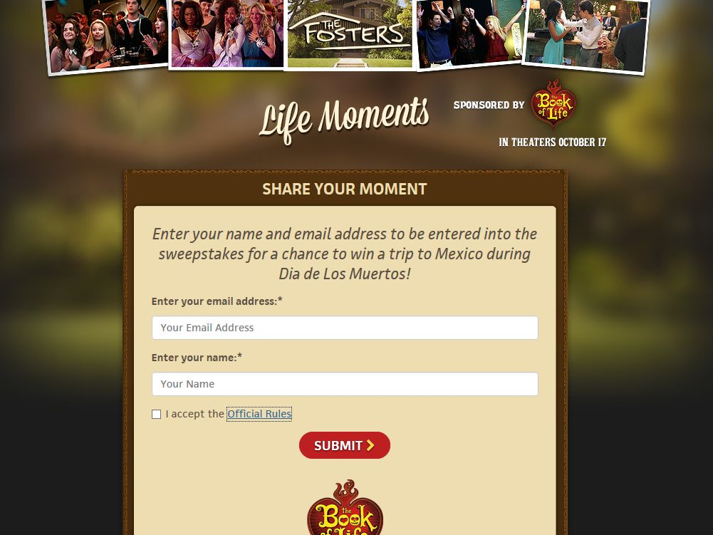 "ABC Family's ""Life Moments"" Sweepstakes"