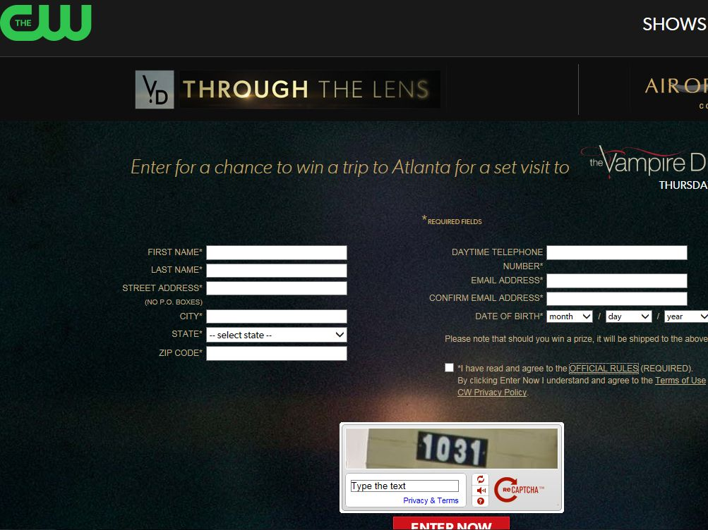 The CW Through the Lens Sweepstakes