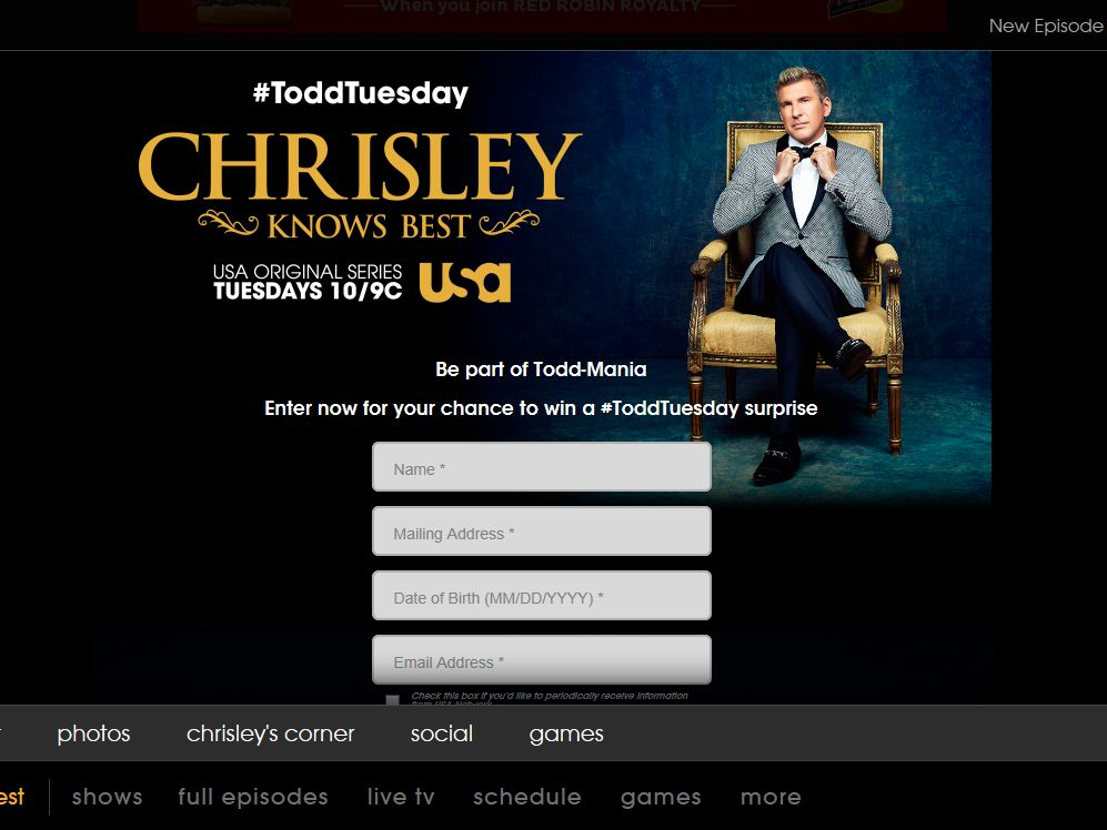 USA Network Chrisley Knows Best Sweepstakes