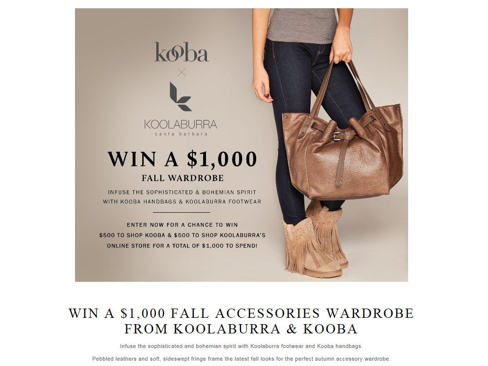 Koolaburra Footwear and Kooba Handbags Sweepstakes