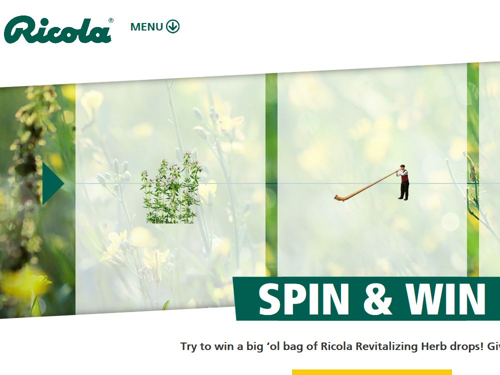 The Ricola Spin & Win Promotion