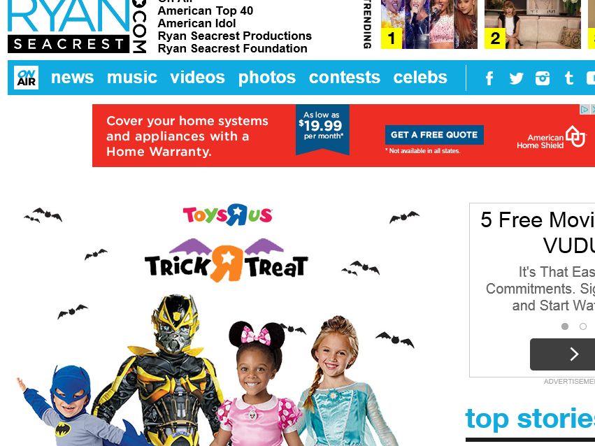 "Ryan Seacrest's Toys""R""Us Halloween Sweepstakes"