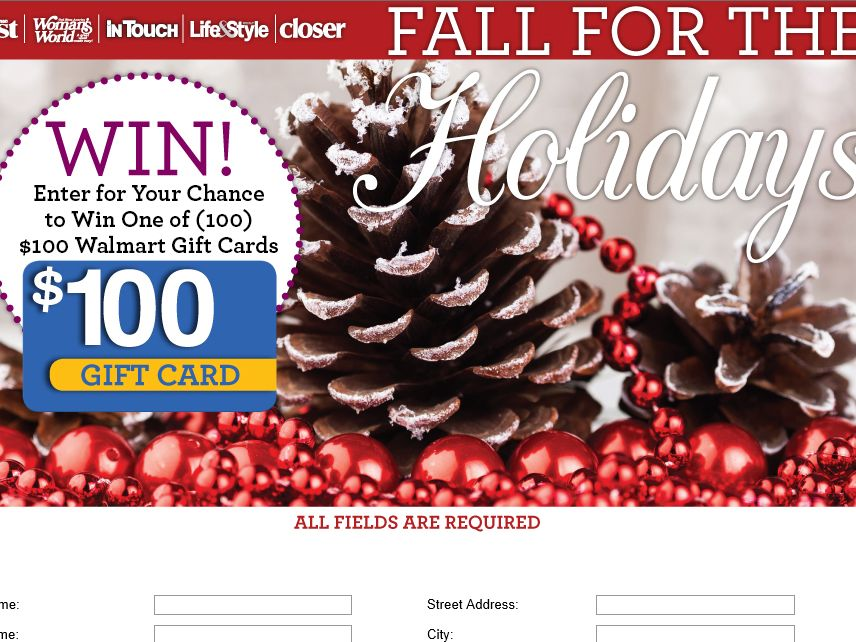 """Woman's World """"Fall for the Holidays"""" Sweepstakes"""