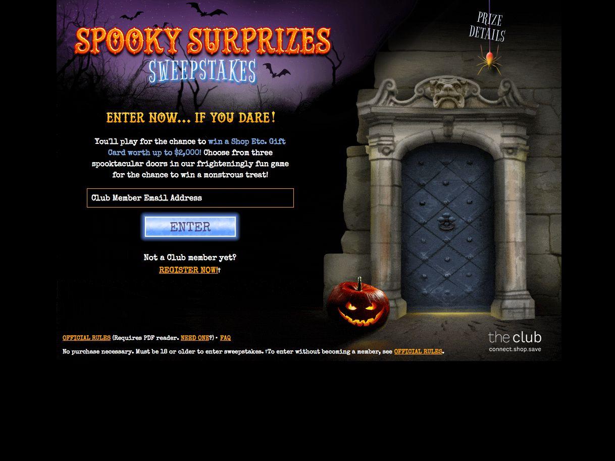 GGP Spooky Surprizes Sweepstakes