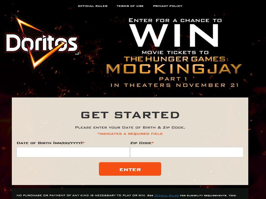 DORITOS Movie Mega Pack Sweepstakes – Select States