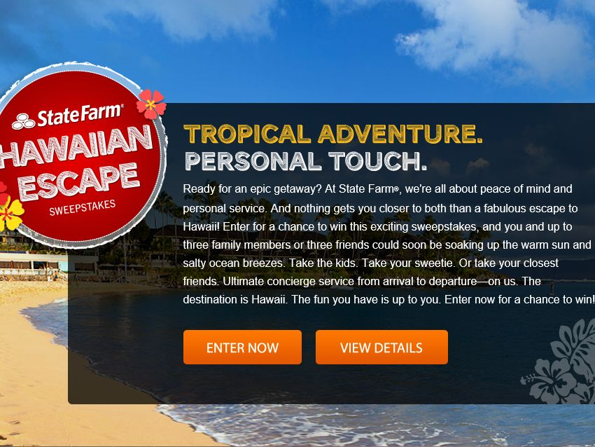 State Farm Hawaiian Escape Sweepstakes – Select States