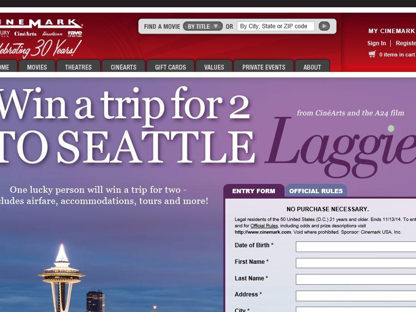 Cinemark's Laggies Seattle Sweepstakes