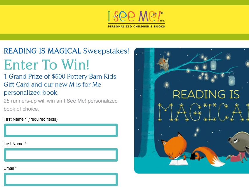 The I See Me Reading is Magical Sweepstakes