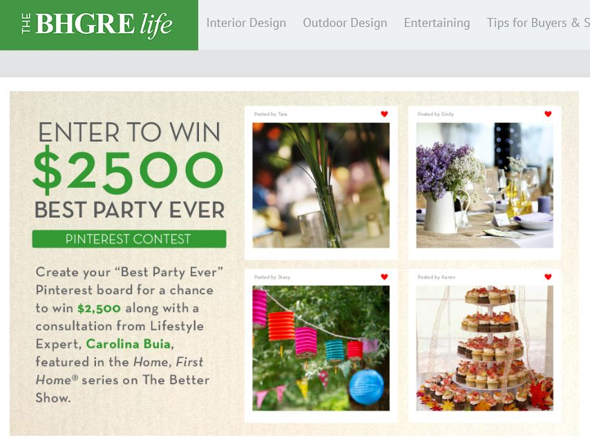 Better Homes and Gardens Real Estate Pinterest Contest