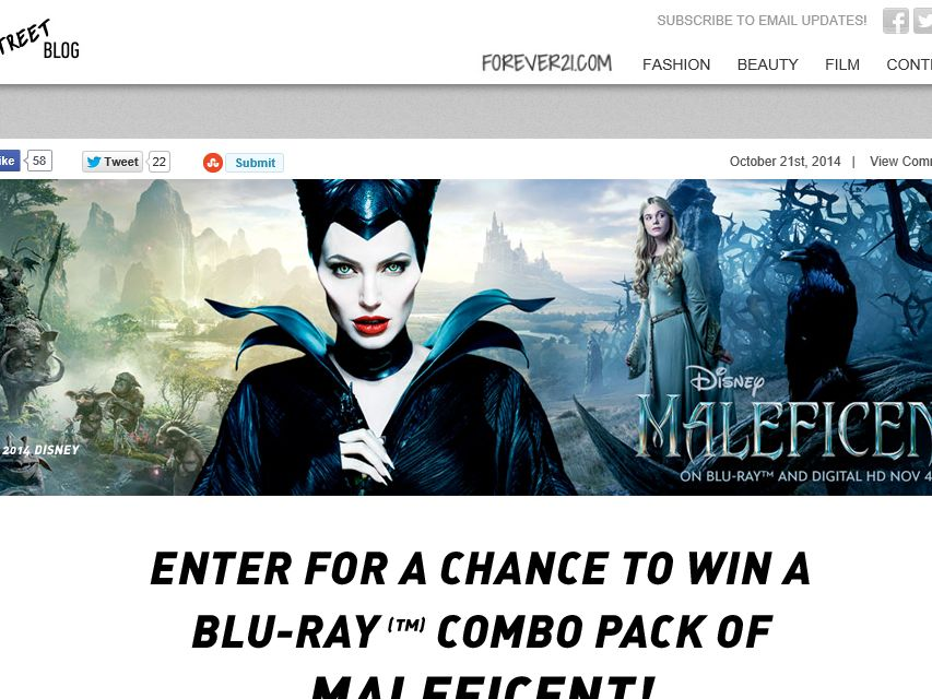 FOREVER 21: Maleficent Sweepstakes