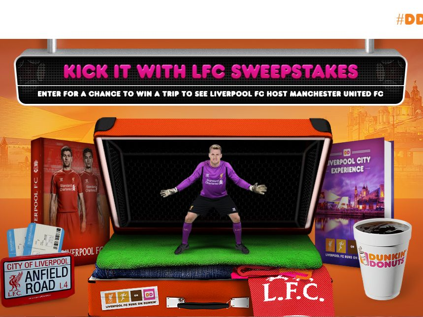 The Dunkin' Donuts Kick It with LFC! Sweepstakes