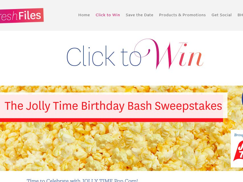 BHG Jolly Time Birthday Bash Sweepstakes