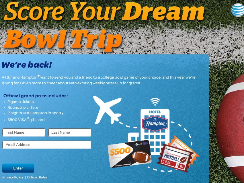 The Score Your Dream Bowl Trip Contest