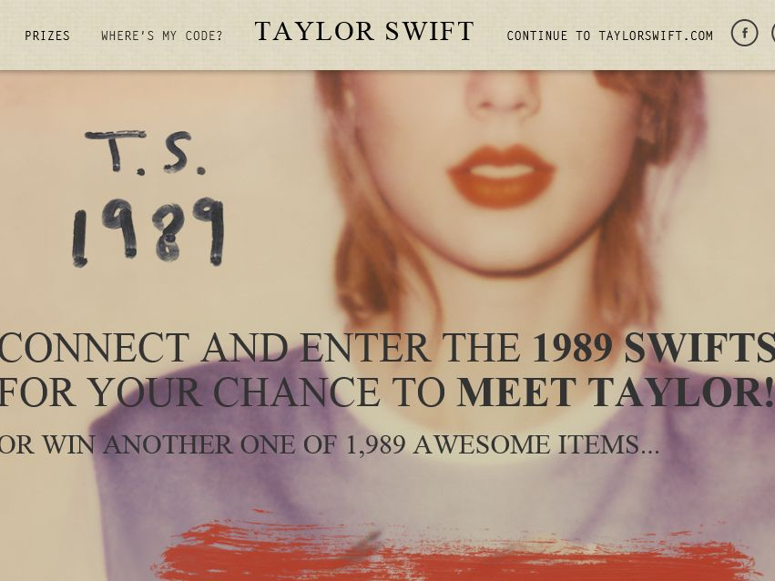 """The """"1989 SwiftStakes"""" Sweepstakes"""