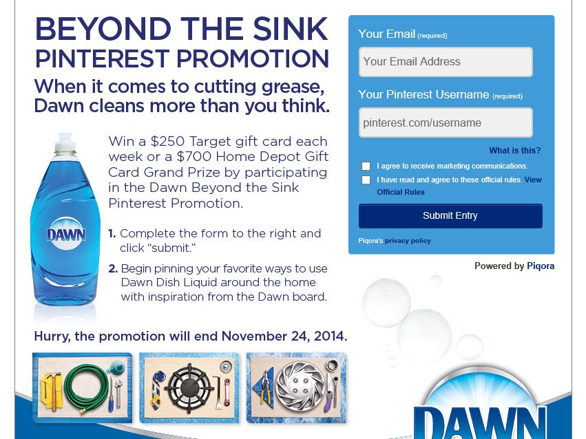 Dawn Beyond the Sink Pinterest Promotion