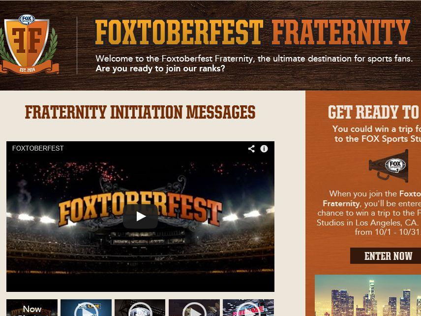 The Foxtoberfest Fraternity Sweepstakes